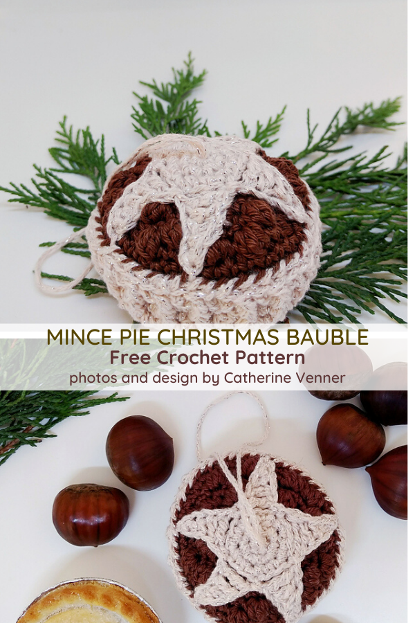 Mince Pie Christmas Ornament Pattern