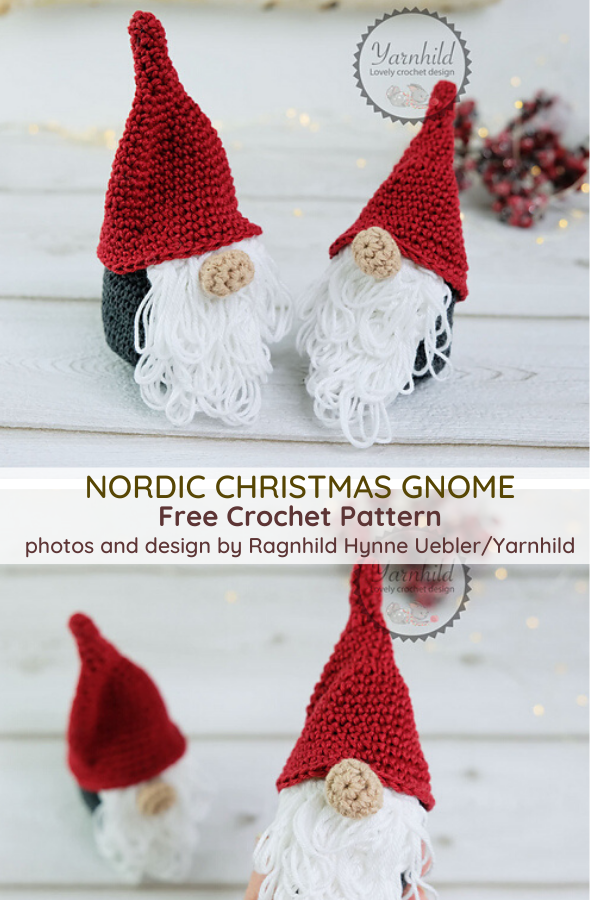 Free Christmas Gnome Pattern To Decorate The Holiday
