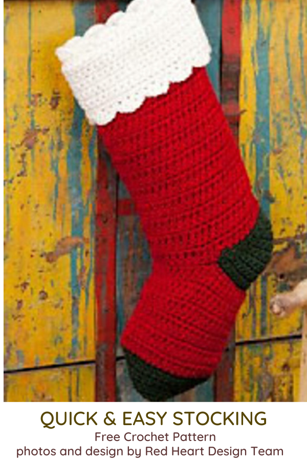 Easy Crochet Stocking Free Pattern