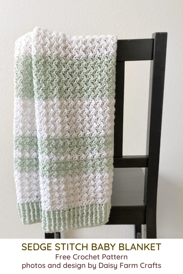 Crochet Sedge Stitch Baby Blanket