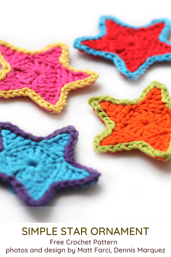 Crochet Star Ornaments- 12 Crochet Christmas Ornaments to Make Your Christmas Fun