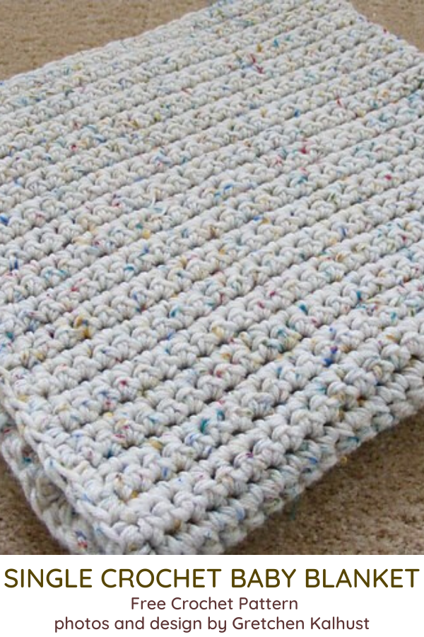 Single Crochet Baby Blanket Free Pattern