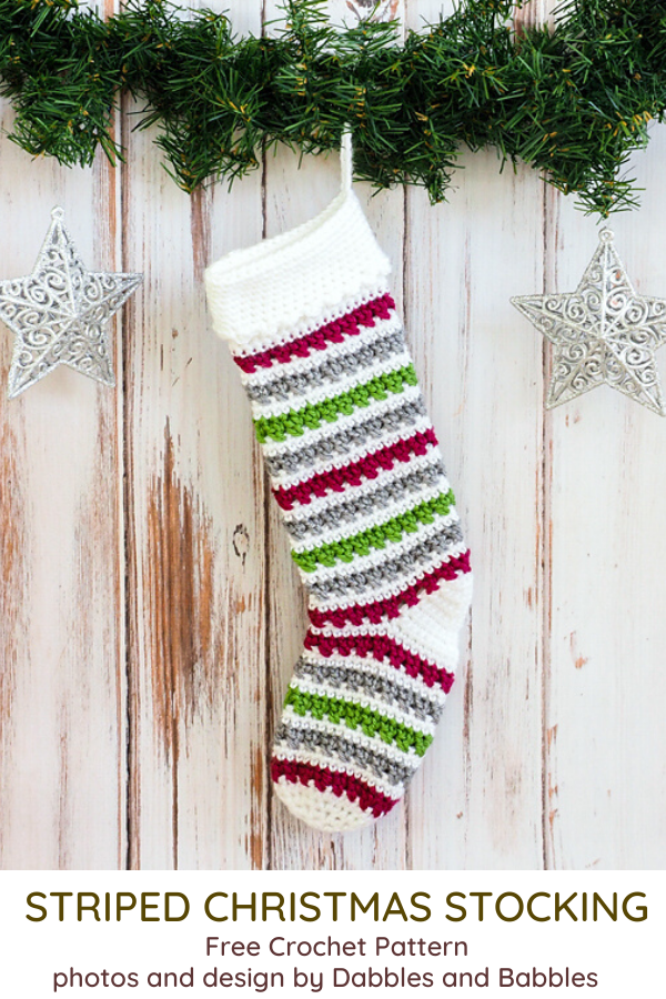 Striped Crochet Stocking Pattern