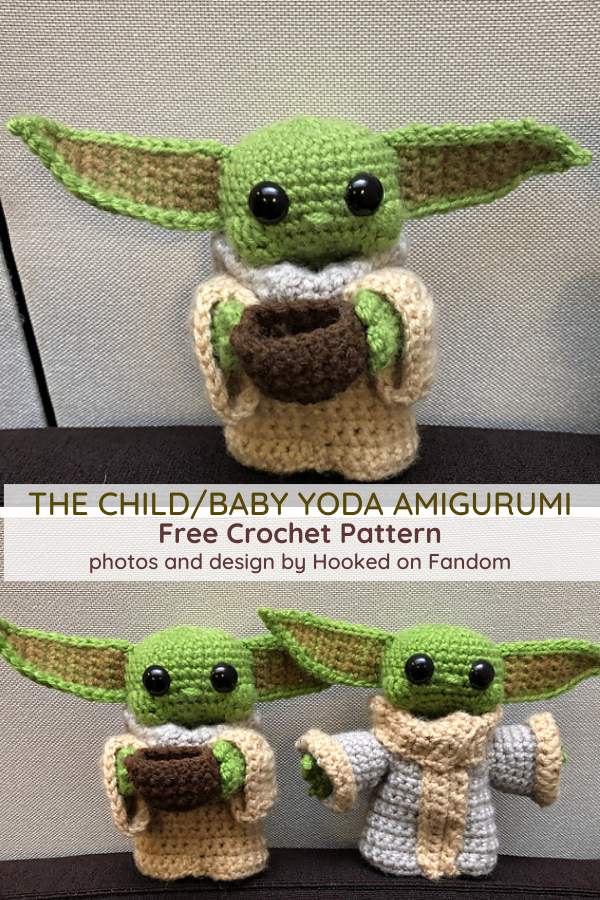 Baby Yoda Free Crochet Pattern- So Cute, Look At The Wee Face!