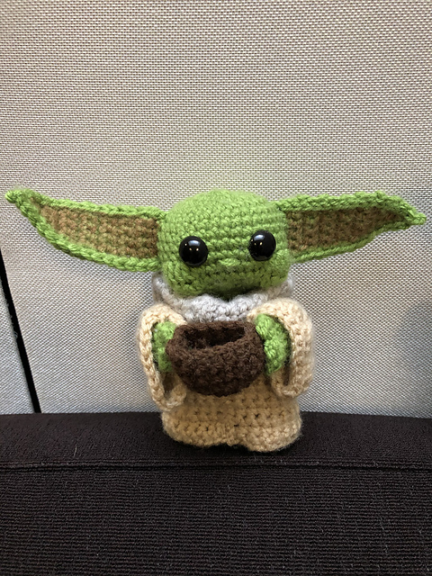 Baby Yoda Free Crochet Pattern So Cute Look At The Wee