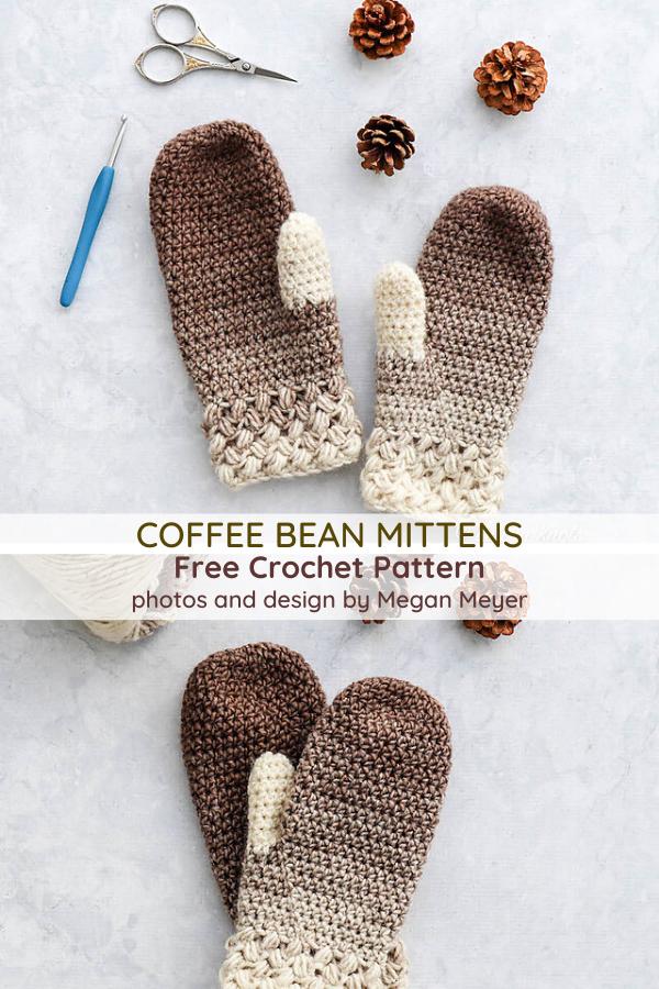 One Skein Crochet Mittens