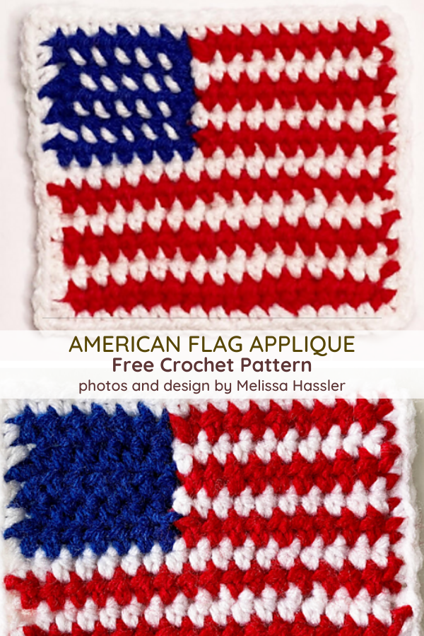 American Flag Applique Free Crochet Pattern
