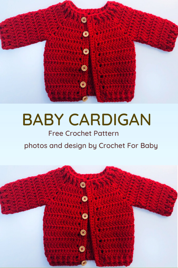 Crochet Baby Cardigan- So Comfy, So Adorable! [Video Tutorial]