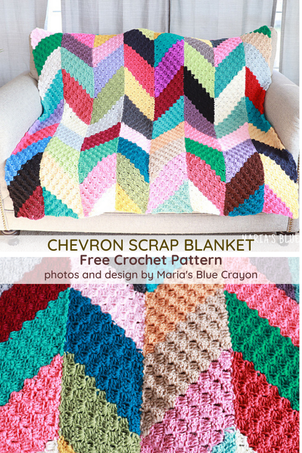 The Perfect C2C Scrap Blanket For Your Leftover Bits Of Yarn