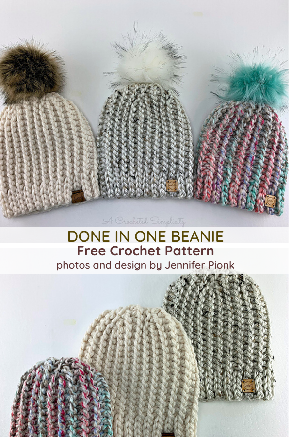 Less Than 1 Hour And 1 Ball Of Yarn Crochet Beanie