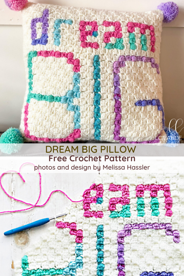 Inspirational Pillow Free Crochet Pattern