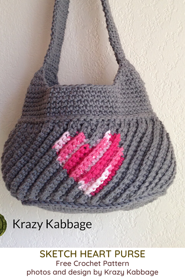 Sketch Heart Purse Free Crochet Pattern