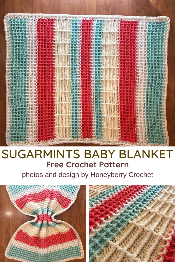 Beautifully Textured Waffle Baby Blanket Crochet Pattern