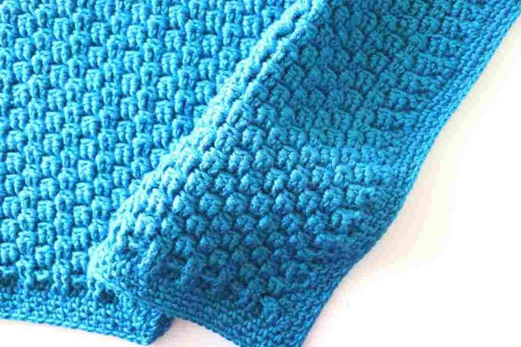 One-Row Repeat Baby Blanket Free Crochet Pattern