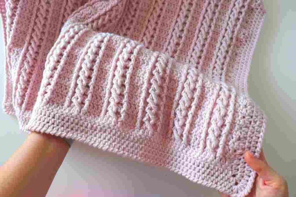 Easy Cable Blanket Crochet Pattern For Beginners