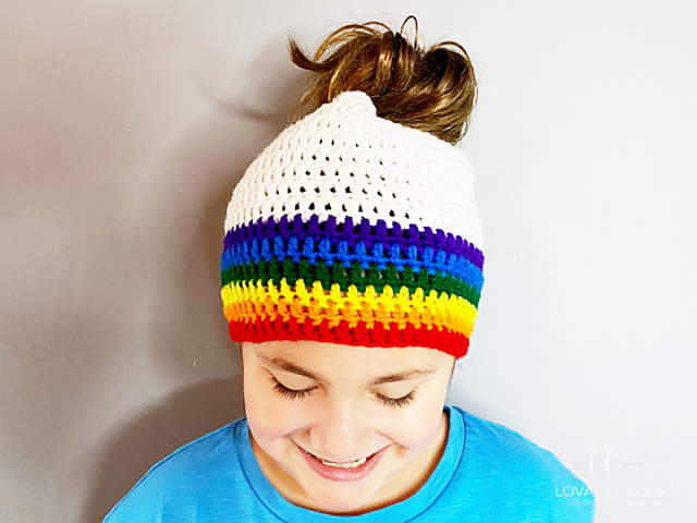 Messy Bun Beanie For Toddler, Child And Adult