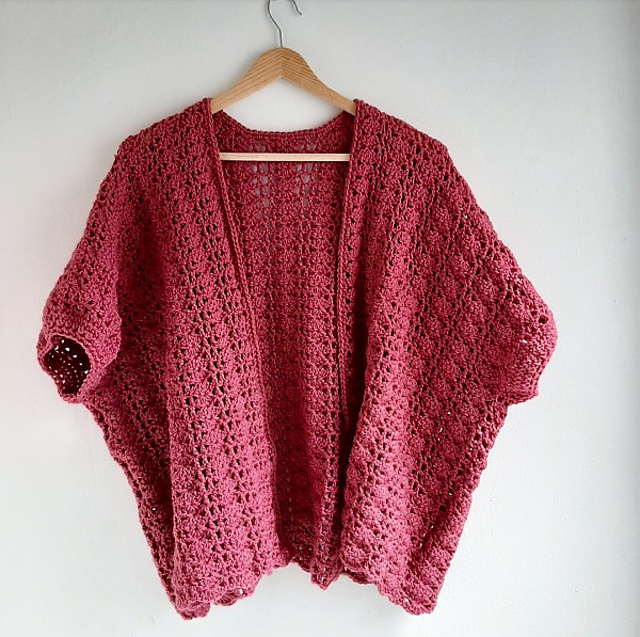 Easy Lacy Crochet Cardigan Pattern For Spring