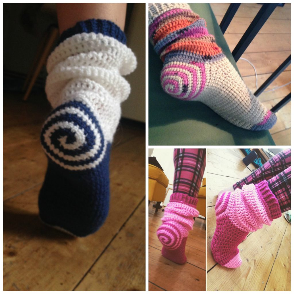 Spiral Socks Crochet Pattern