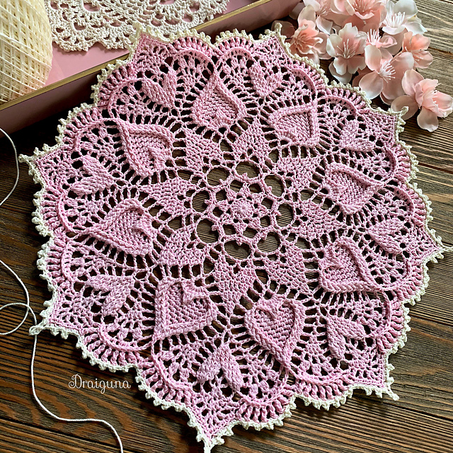 Gorgeous Textured Doily- We Can't Stop Looking At It!