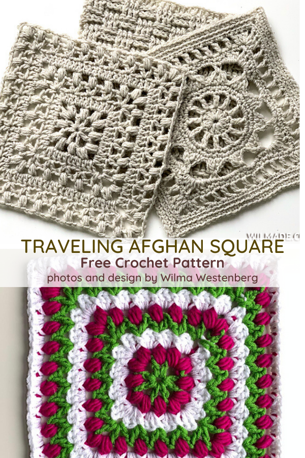 Tulip Afghan Square Free Crochet Pattern