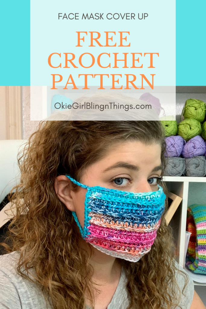 DIY Face Mask Cover Up Free Crochet Pattern