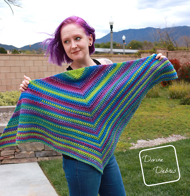 Free Crochet Triangle Shawl Pattern