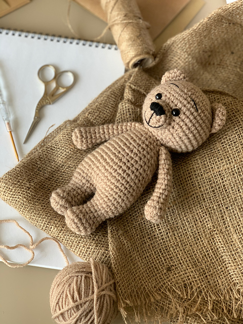 Little Teddy Bear Free Crochet Pattern