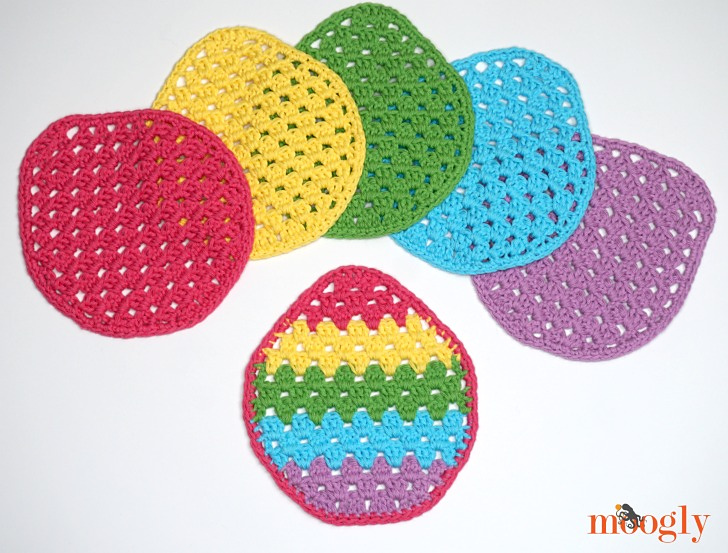 Easter Egg Granny Washcloth- Quick To Work Up And Super Fun!