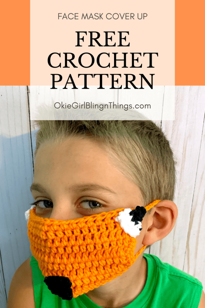 DIY Fox Face Mask Cover Up Free Crochet Pattern