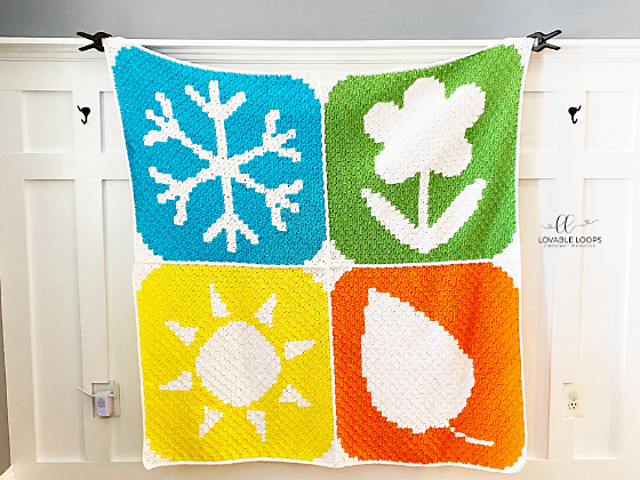 Colorful Crochet Blanket Pattern For Every Season
