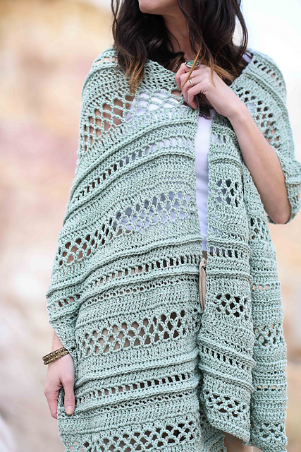 Easy Lightweight Crochet Shawl Pattern