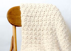 Chunky Crochet Blanket Pattern With Gorgeous Texture