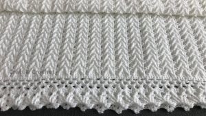 Easy Two Row Repeat Crochet Baby Blanket Pattern