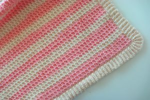 Easy Striped Crochet Blanket Pattern- It's Just One Row Repeat