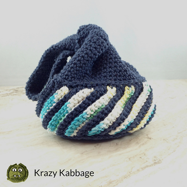 Little Crochet Japanese Knot Bag Pattern