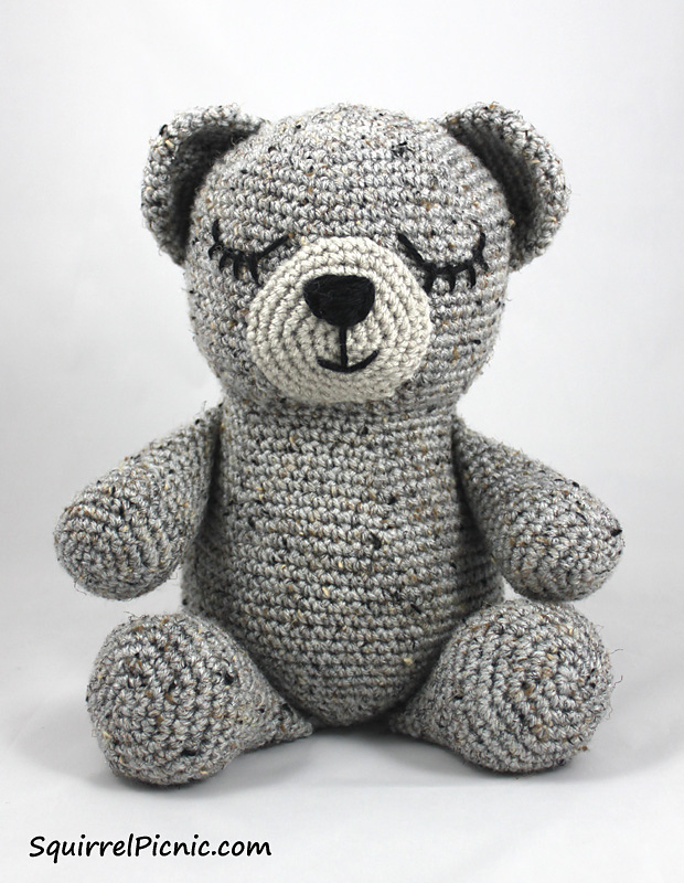 Ravelry: Easy-peasy teddy-bear — crocheted in one piece pattern by ... | 800x620