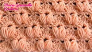 Learn A New Crochet Stitch: Puff And Fans Crochet Stitch