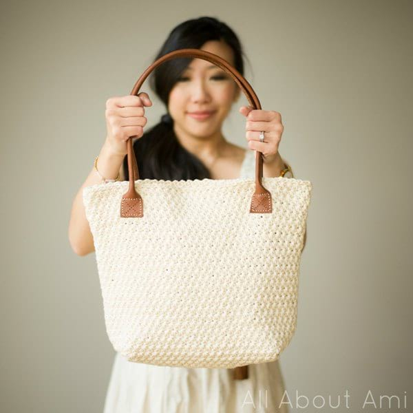 Simple Crochet Bag Free Pattern With Flat Base