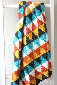 Multicolor Crochet Triangle Blanket Pattern