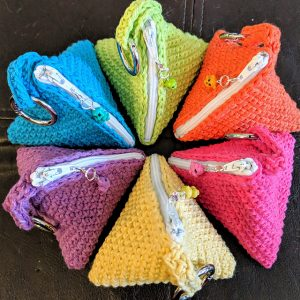 Crochet Pyramid Triangle Bag
