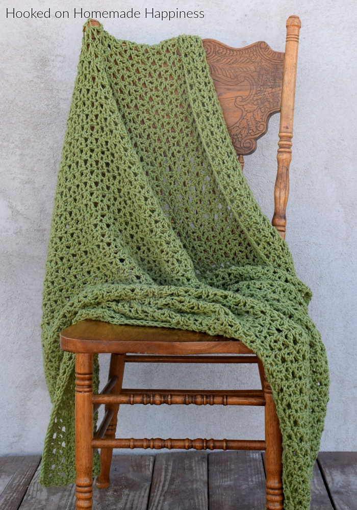 Easy 1 Row Repeat Throw Blanket Crochet Pattern