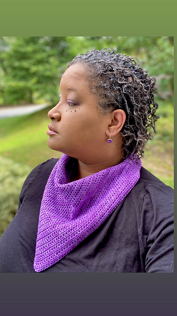 Quick And Easy Bandana Scarf Crochet Pattern