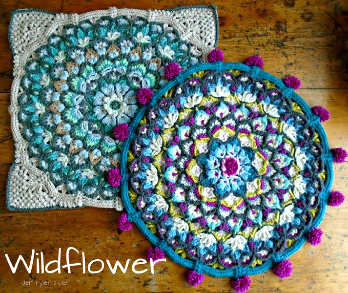 Gorgeous Crochet Cushion Cover With Flowers