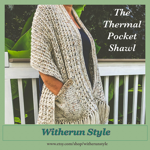 Pocket Shawl Pattern With Wonderfully Warm And Squishy Texture