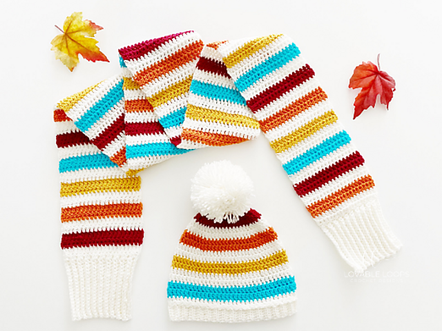 Free Hat And Scarf Set Crochet Pattern Perfect For Cold Days
