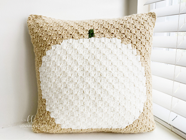 Crochet Pumpkin Pillow Pattern