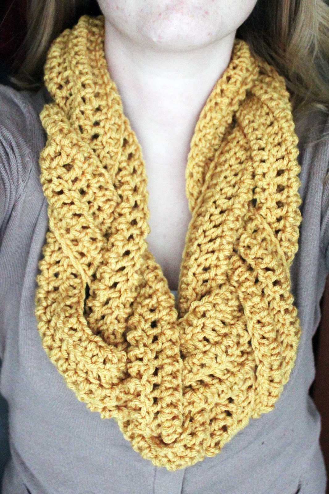 Braided Crochet Scarf Pattern