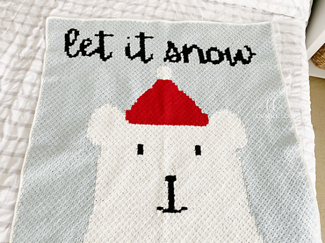 Let it Snow Crochet Blanket