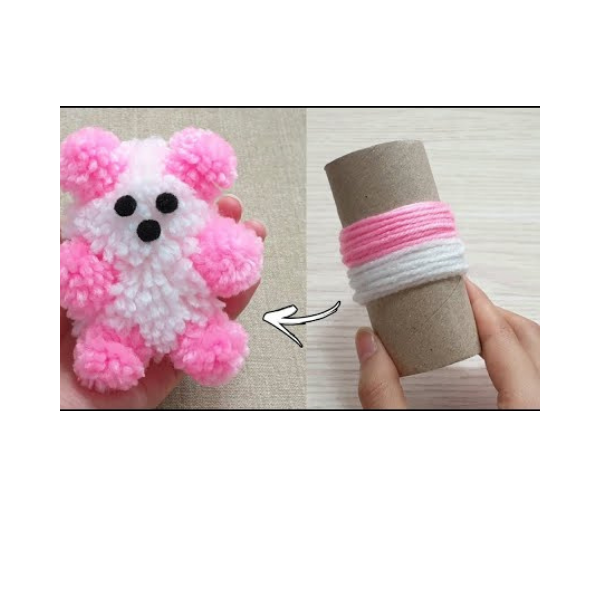 How To Make A Teddy Bear From Your Scrap Wool...And It Takes Less Than 1 Hour!