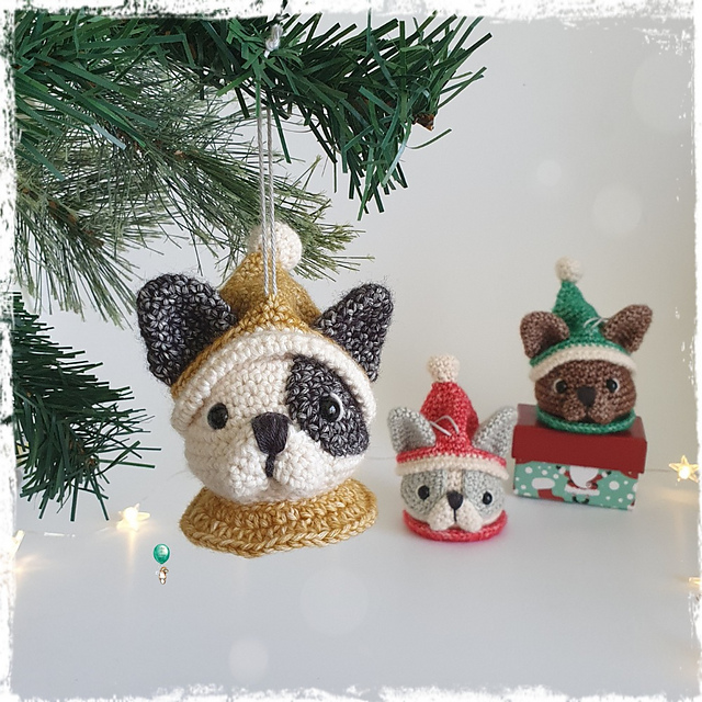 Cutest Crochet Dog Ornament Pattern